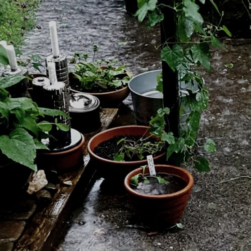 Überschwemmte Terrasse