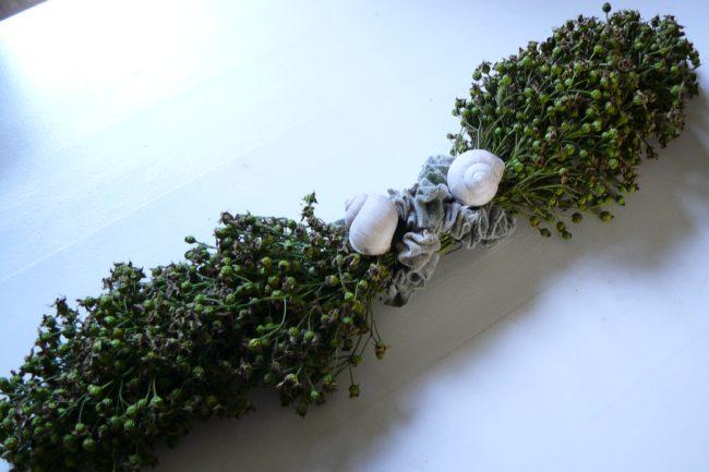 Tischdeko aus Minihagebutten