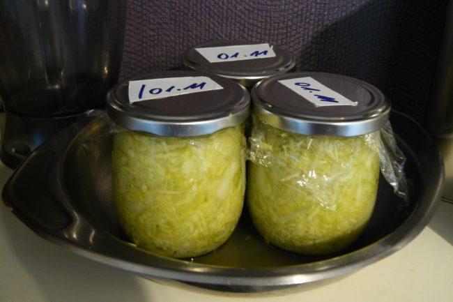 Sauerkraut im Glas vergoren