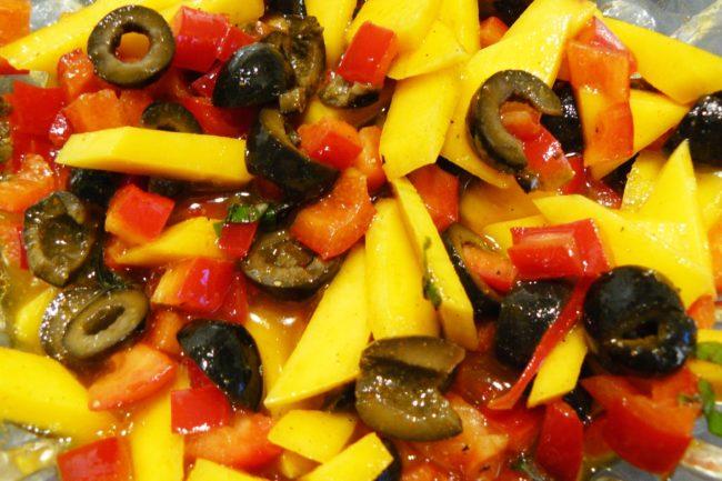 Nudelsalat mit Mango