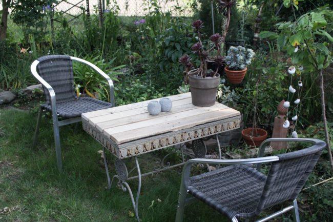 Gartentisch neue Platte bauen