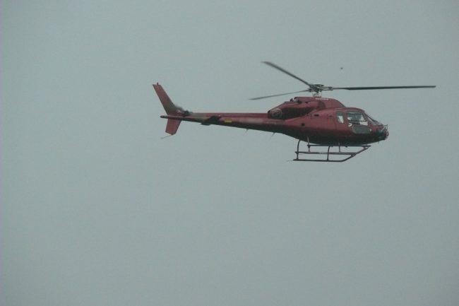 Kreisender Hubschrauber