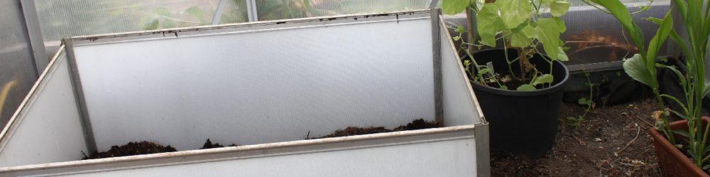 Schnelles Hochbeet im Geächshaus