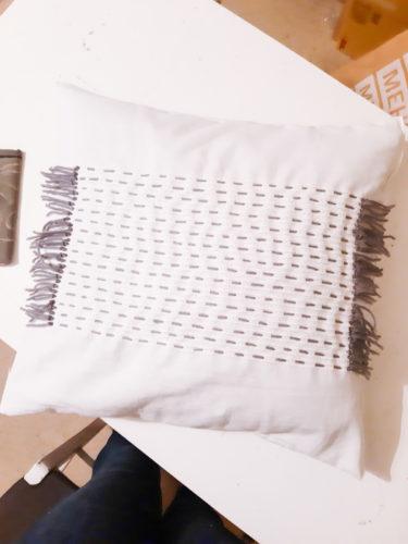 Kissenbezug besticken DIY
