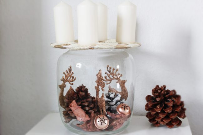 Adventsdeko 2019.1 Adventsglas low budget
