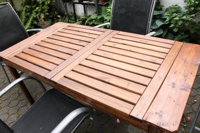 Tischplatte erneuert