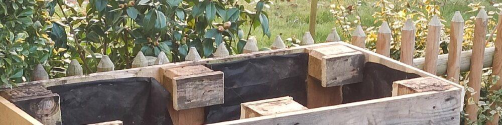 Hochbeet aus Paletten