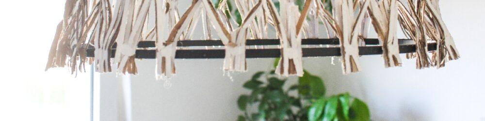 Lampenschirm in Korboptik DIY | Upcycling